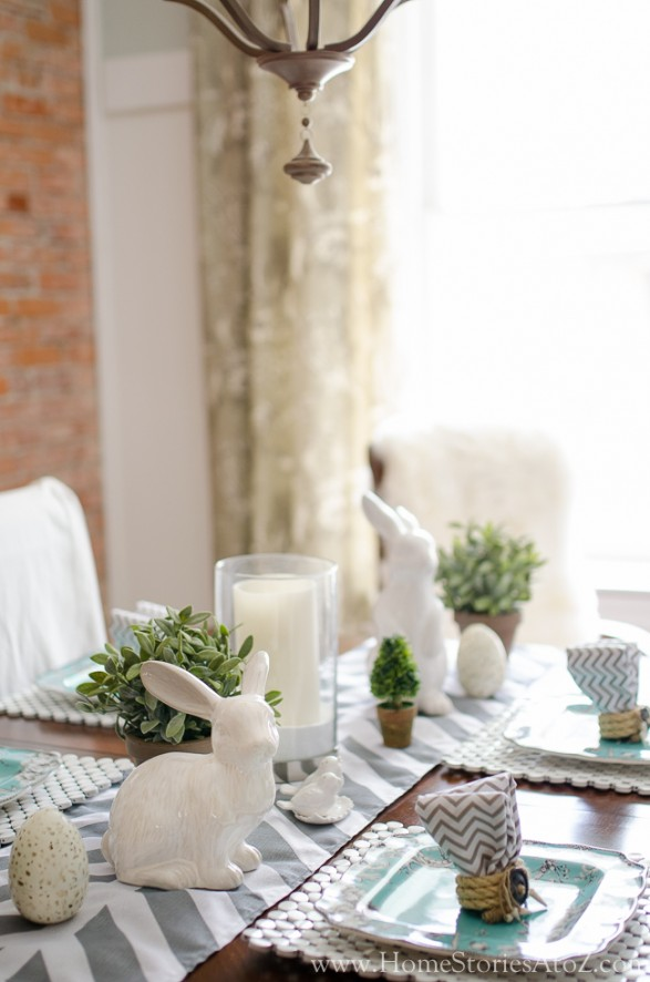 Spring Tablescape Tips - Easter Table by Home Stories A to Z