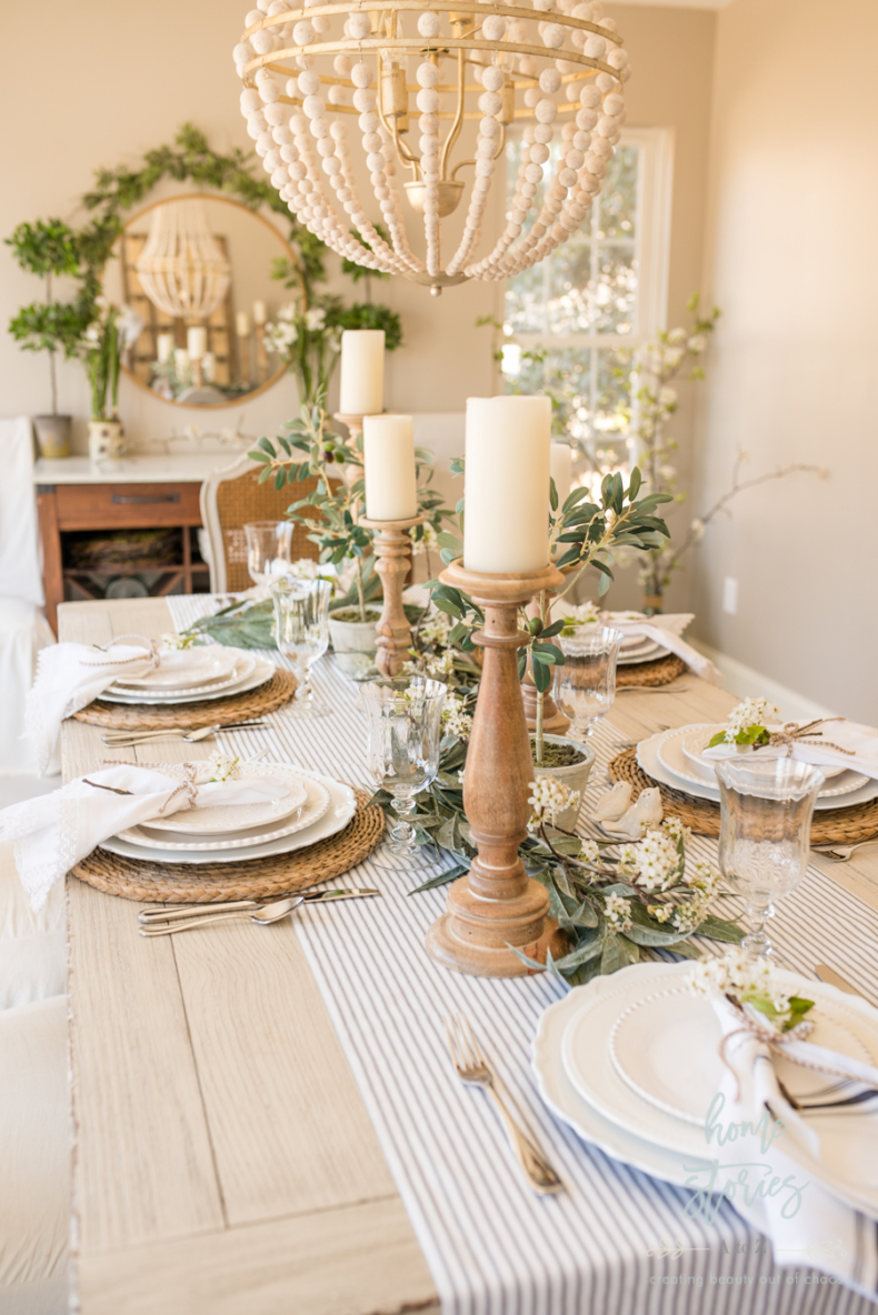 Spring Tablescape Tips - Gorgeous Spring Table by Home Stories A to Z