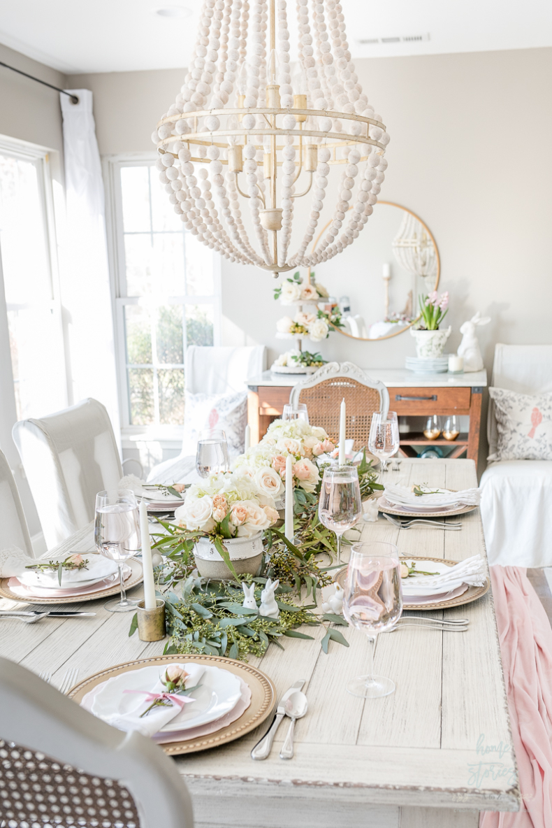 Spring Tablescape Tips - Live Runner on Easter Tablescape by Home Stories A to Z