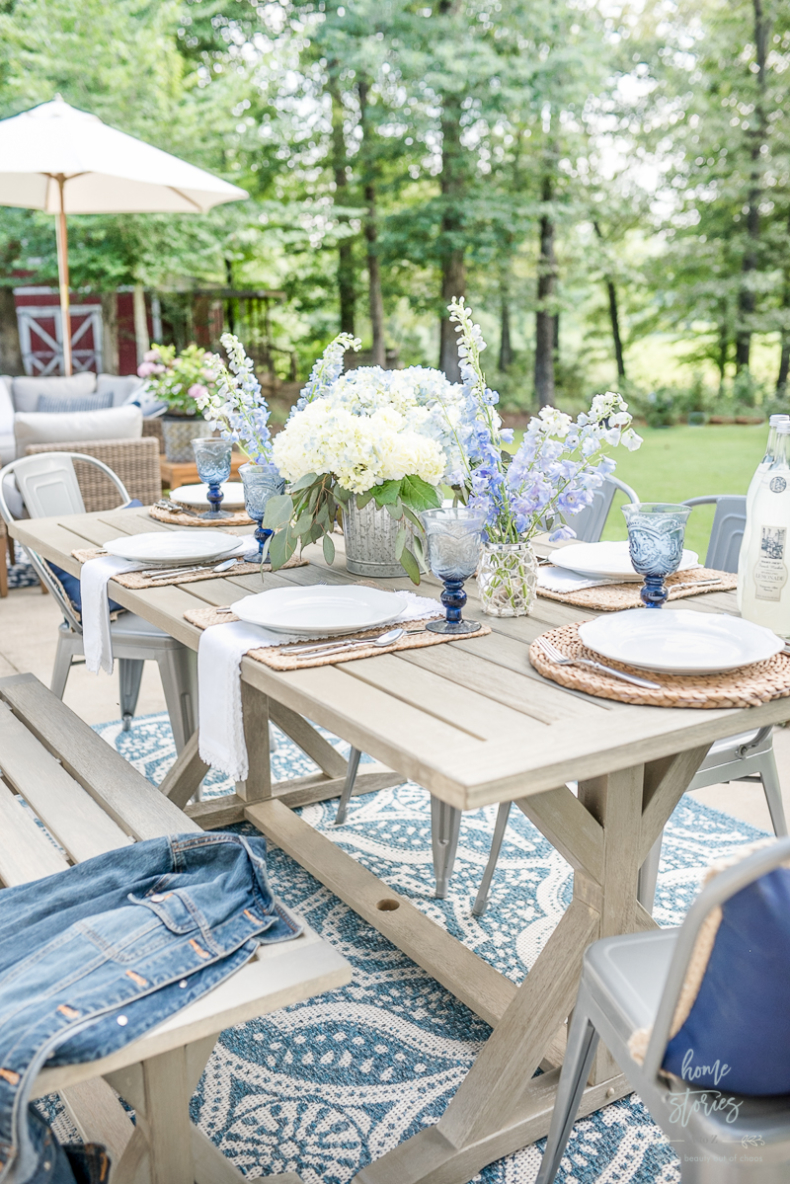 Spring Tablescape Tips - Outdoor Spring Tablescape by Home Stories A to Z