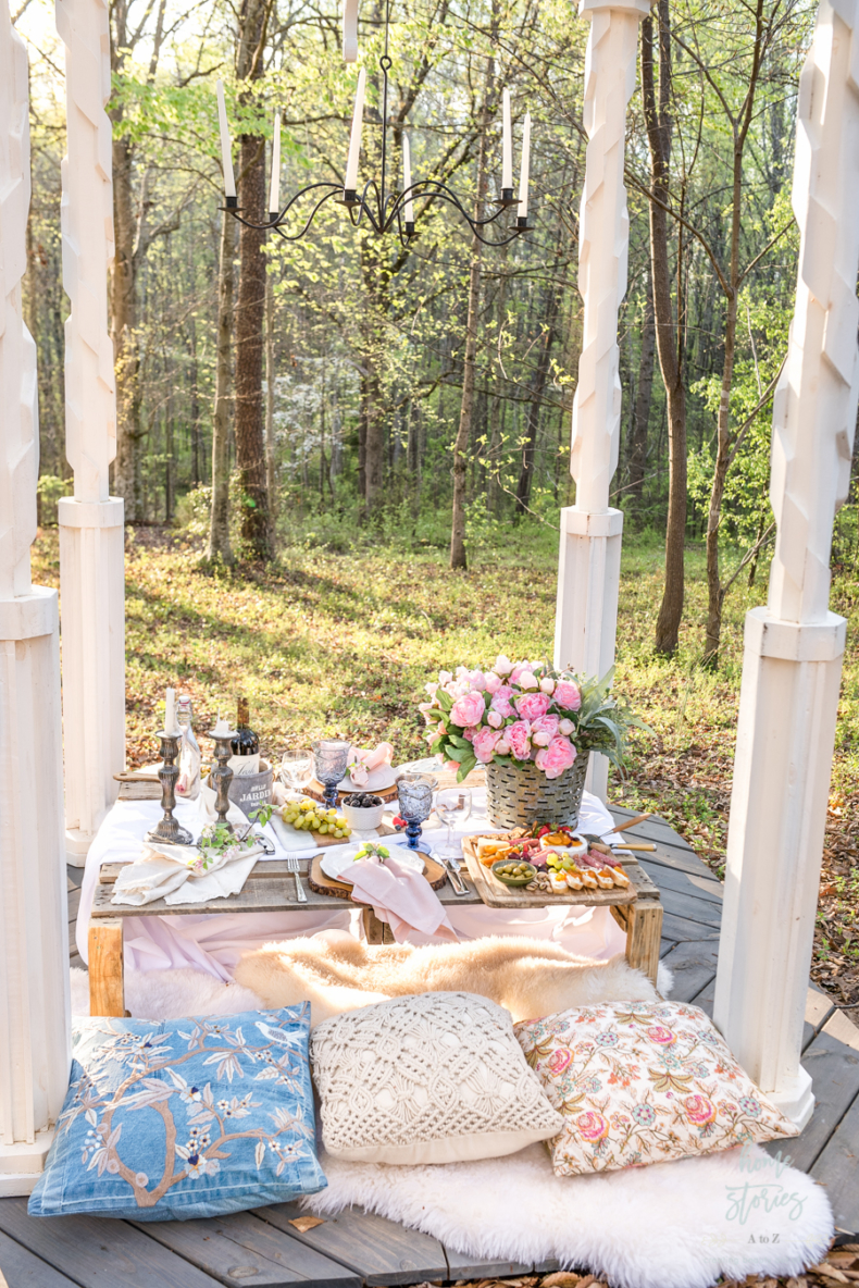 Spring Tablescape Tips - Romantic Table for Two by Home Stories A to Z