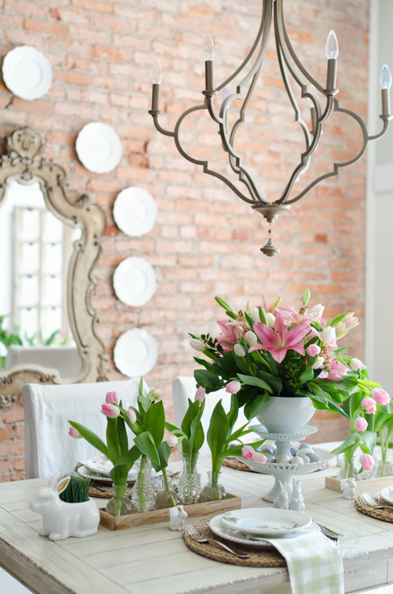 Spring Tablescape Tips - Spring Tulips Galore by Home Stories A to Z