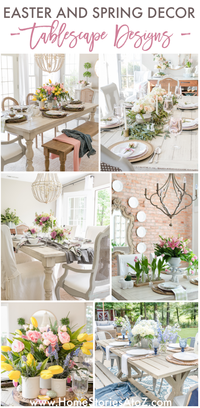 Spring and Easter Tablescape Decor Ideas by Home Stories A TO z