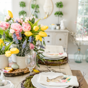 Spring and Easter Tablescape Decor by Home Stories A to Z