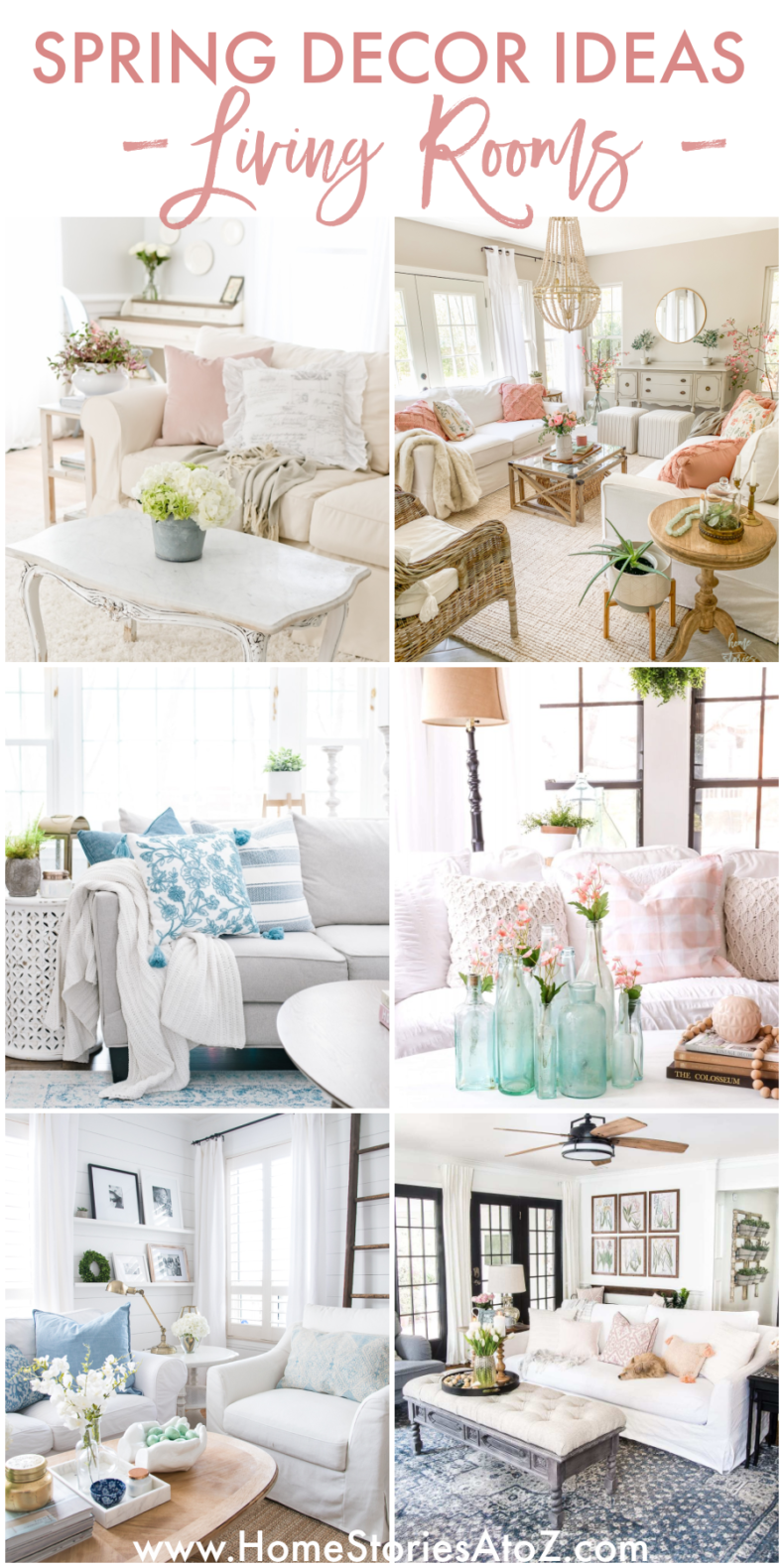 Spring Decor Ideas - Living Rooms Decorated for Spring