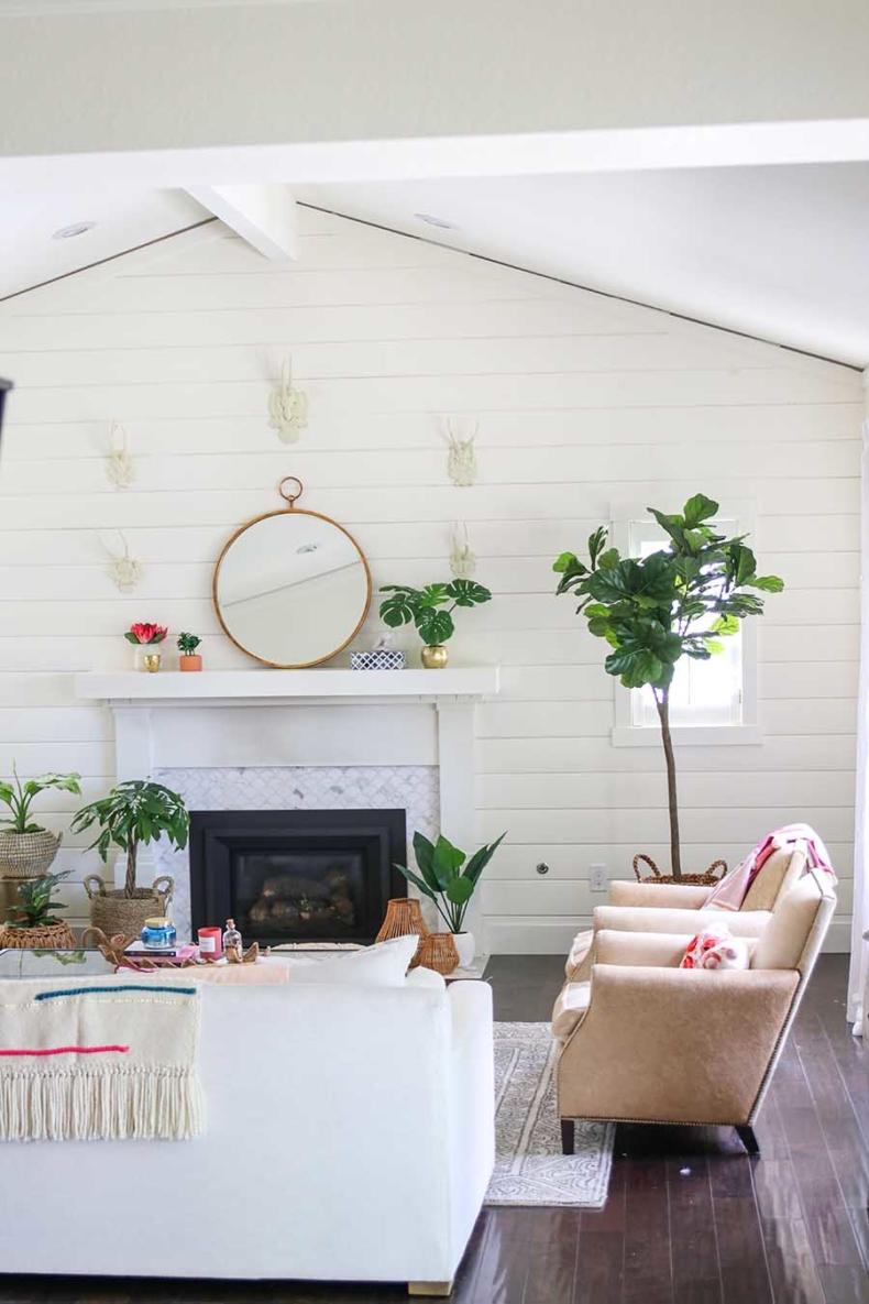Spring Decor Ideas - Boho Glam Spring Living Room by Modern Glam