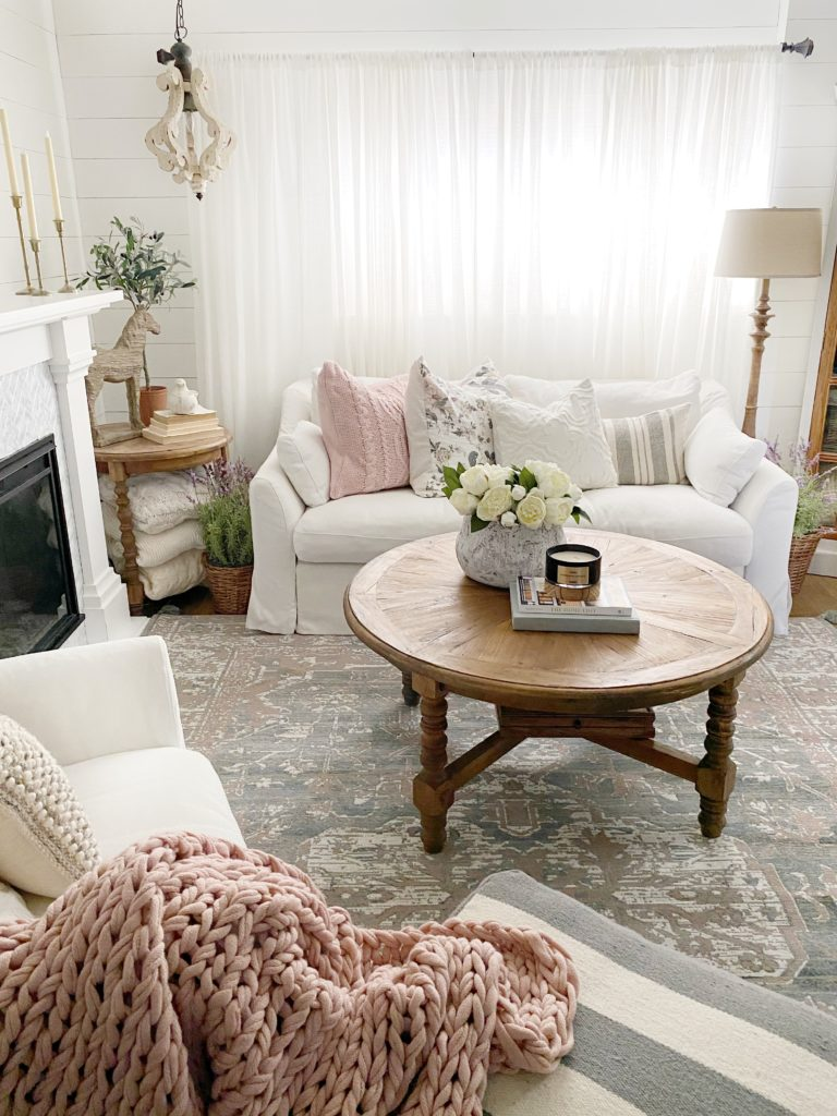 Spring Decor Ideas - Cozy Spring Living Room by Dreaming of Homemaking