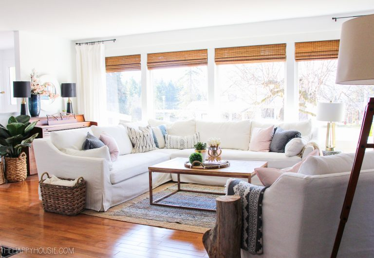 Spring Decor Ideas - Eclectic Bohemian Farmhouse Style by The Happy Housie
