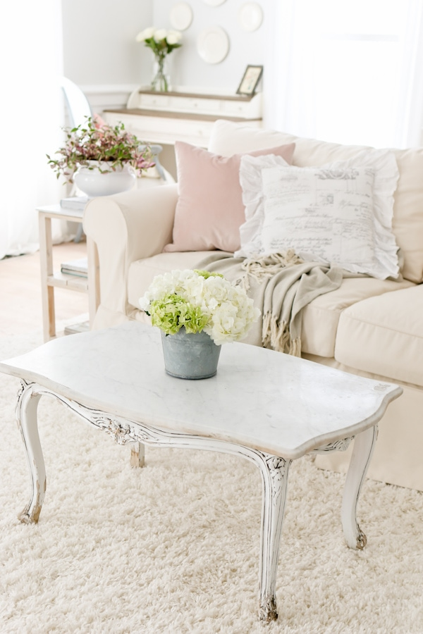 Spring Decor Ideas - French Country Spring Living Room by Tidbits