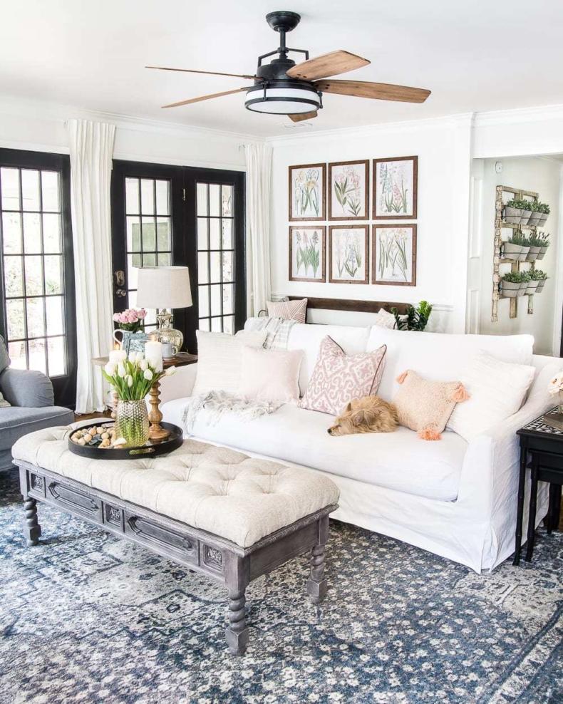 Spring Decor Ideas - Spring Living Room by Bless'er House