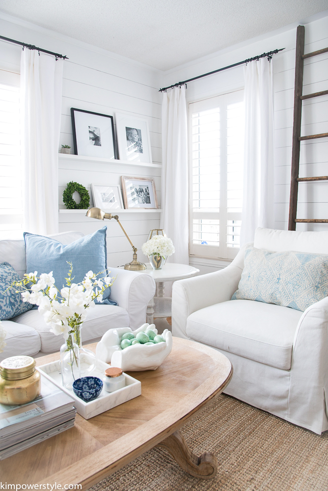 Spring Decor Ideas - Spring Living Room by Kim Power Style