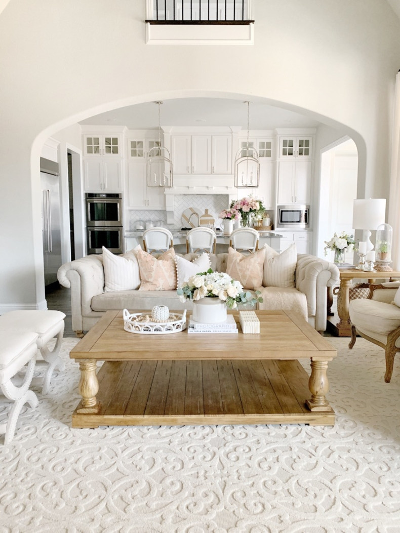Spring Decor Ideas - Spring Living Room by My Texas House