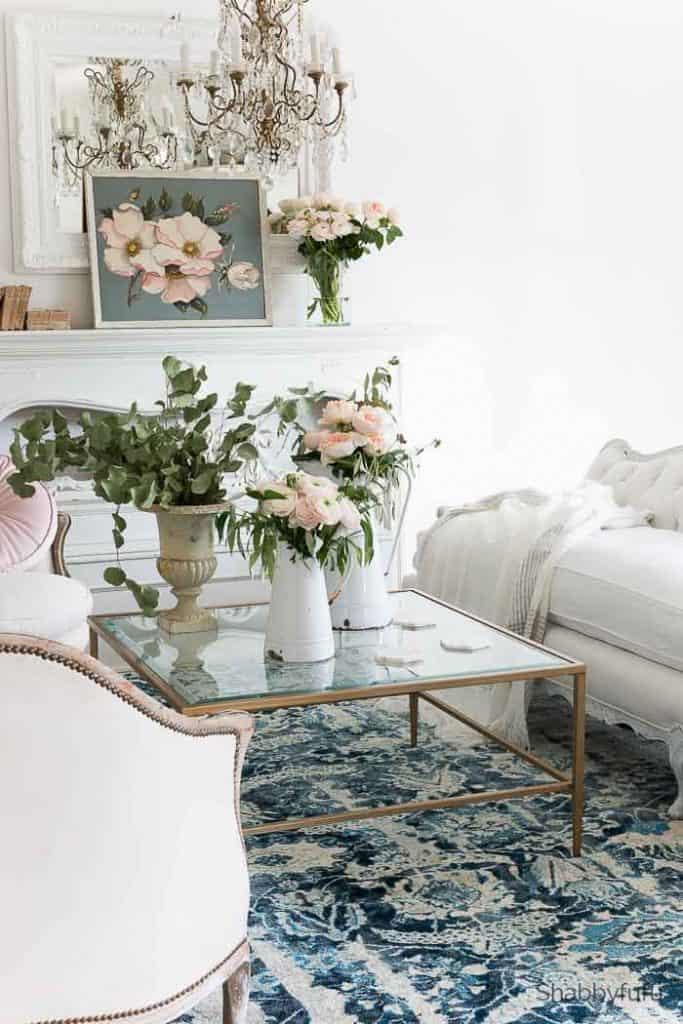 Spring Decor Ideas - Spring Living Room by Shabbyfufu