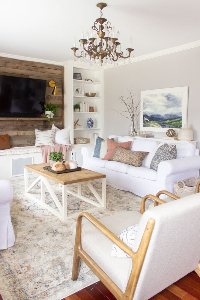 Spring Decor Ideas - Spring Living Room by Shades of Blue Interiors