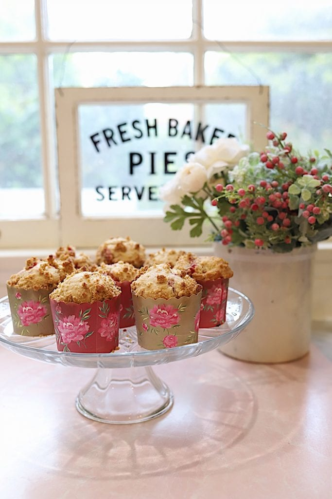 Strawberry Recipes - Strawberry Crumble Muffins by My 100 Year Old Home