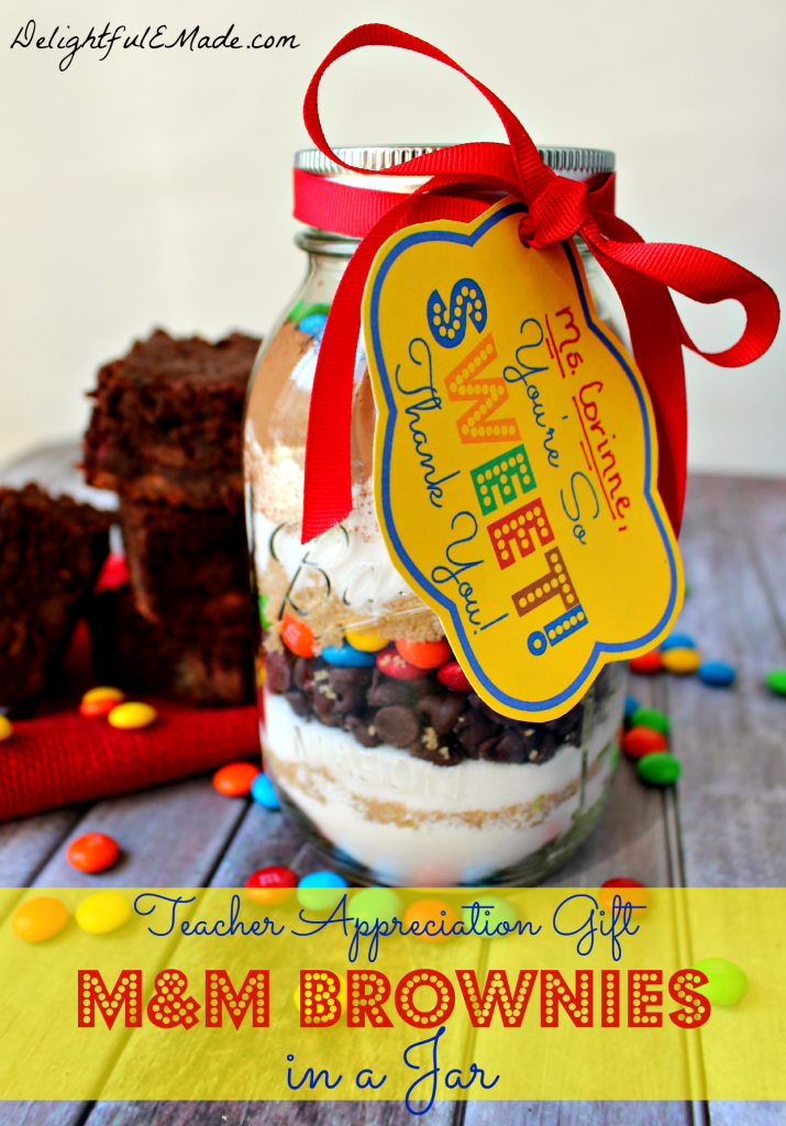 Teacher Gift Ideas - Brownie Jar by Delightful E Made