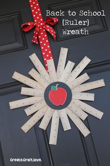 Teacher Gift Ideas - DIY Ruler Wreath by Create Craft Love