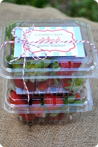 Teacher Gift Ideas - Strawberry Gift by Dixie Delights