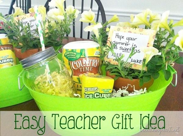 Teacher Gift Ideas - Sweet Lemonade Teacher Gift by Beneath My Heart