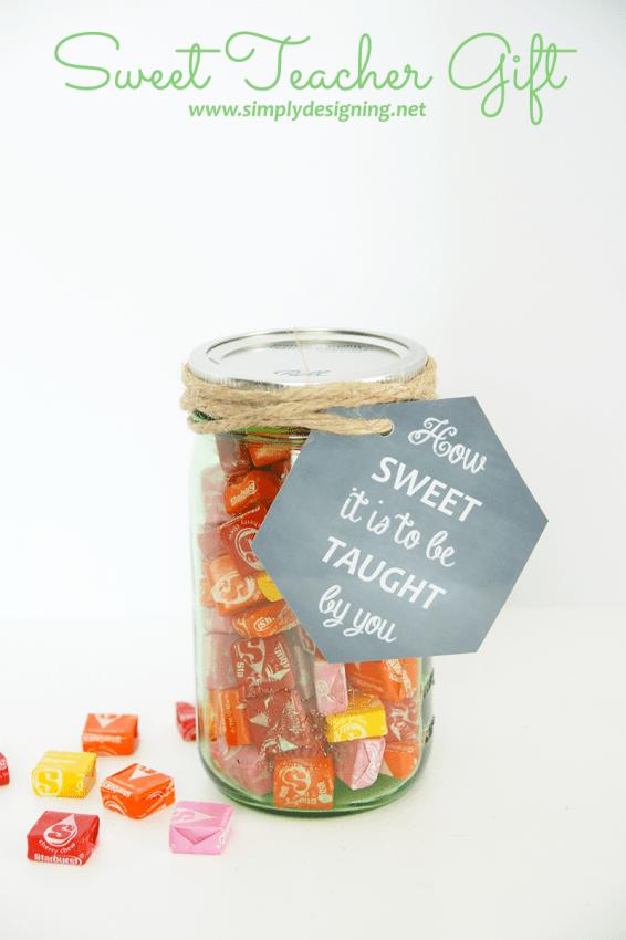 Teacher Gift Ideas- Sweet Teacher Gift by Simply Designing