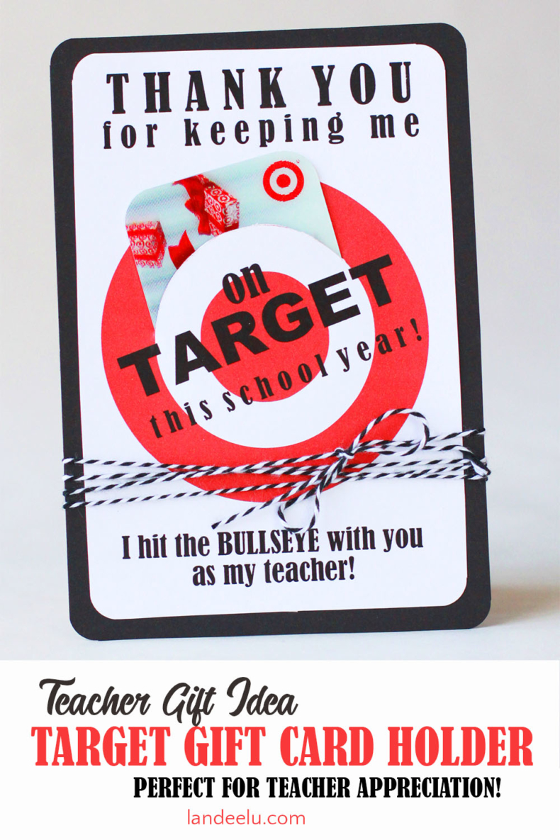Teacher Gift Ideas - Target Gift Card Printable by Landeelu