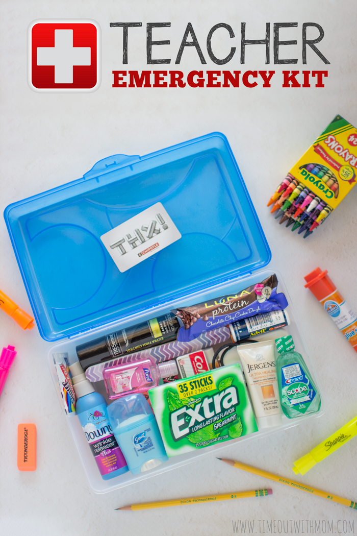 Teacher Gift Ideas - Teacher Emergency Kit by Time Out With Mom