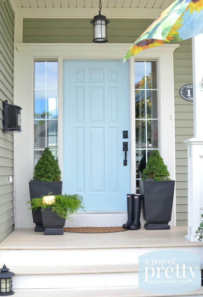 Blue Door Colors - Behr Marquee Dayflower by A Pop of Pretty