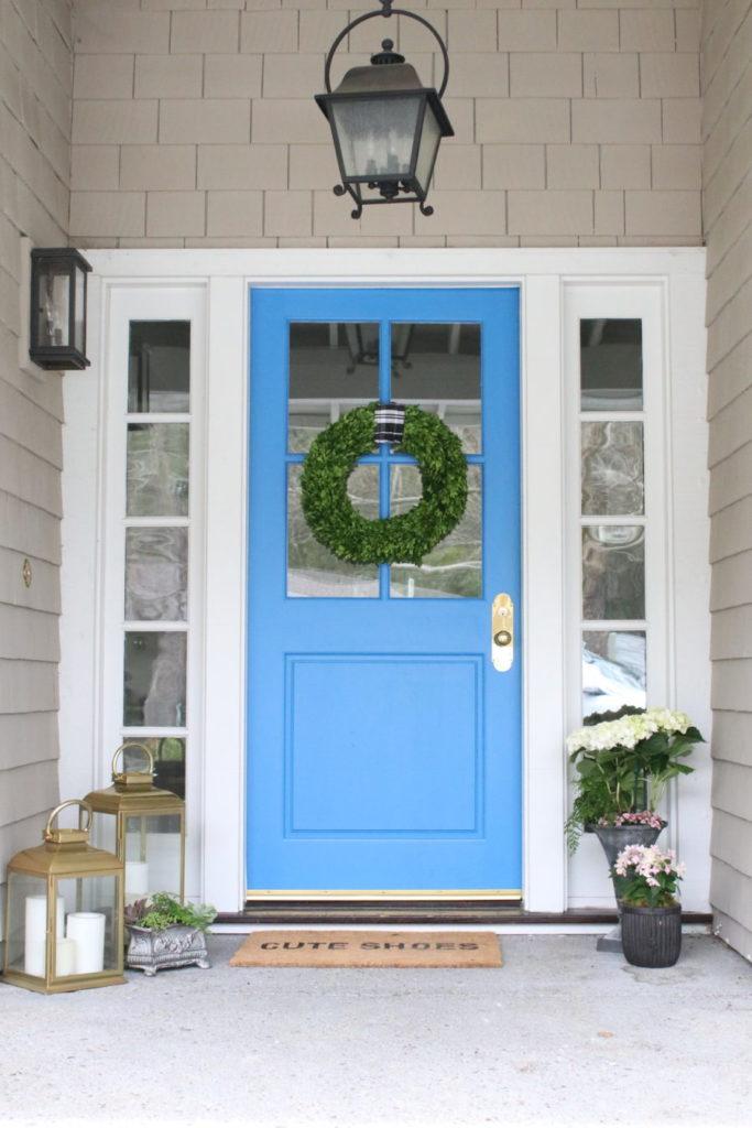 Blue Door Colors - Modern Glam