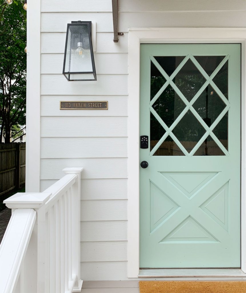 Blue Door Colors - Sherwin Williams Pale Patina by Young House Love
