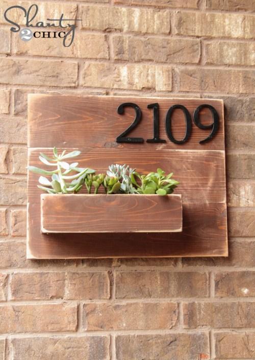 DIY Gifts - DIY Address Number Wall Planter