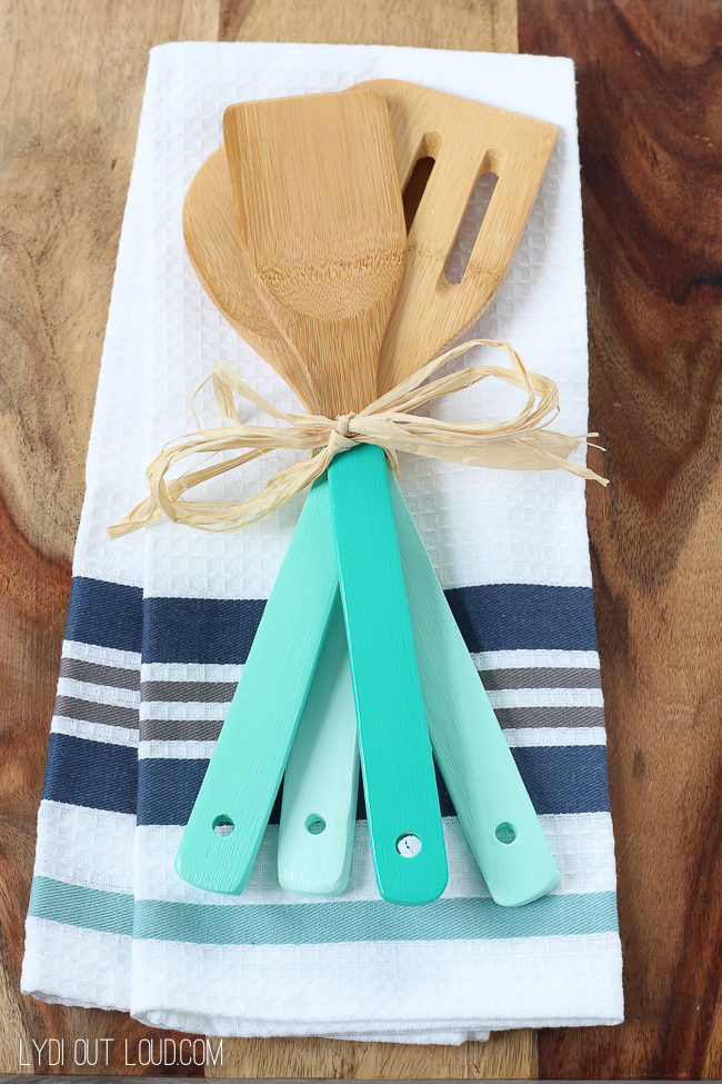 DIY Gifts - DIY Ombre Kitchen Utensils by Lydi Out Loud