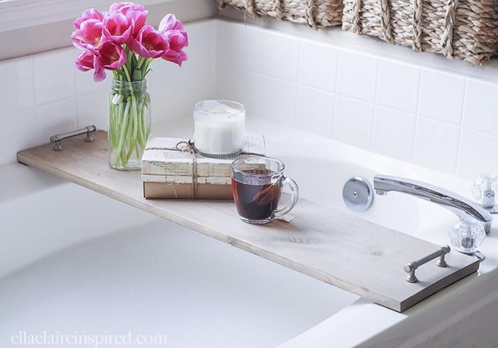 DIY Wedding Gifts - DIY Bathtub Tray by Ella Claire