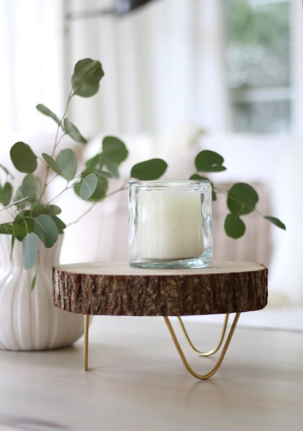 DIY Wedding Gifts - DIY Footed Woodslice Tray by Craftberry Bush