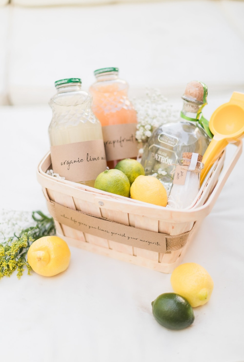 DIY Wedding Gifts - DIY Margarita Gift Basket by The Diary of a Debutante