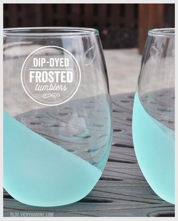DIY Wedding Gifts - Frosted Tumblers by Vicky Barone