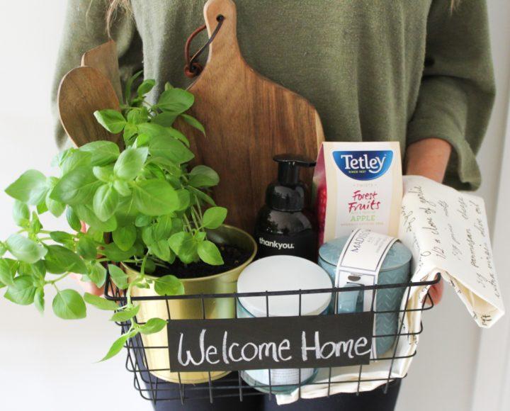 DIY Wedding Gifts - House Warming Basket by Our Wandering Mind