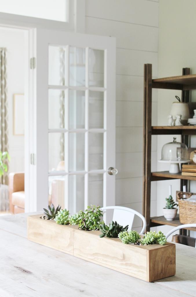 DIY Wedding Gifts - Modern Succulent Centerpiece by City Farmhouse