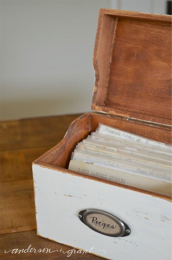 DIY Wedding Gifts - Recipe Box by Anderson + Grant