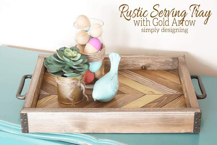 DIY Wedding Gifts - Rustic Serving Tray by Simply Designing
