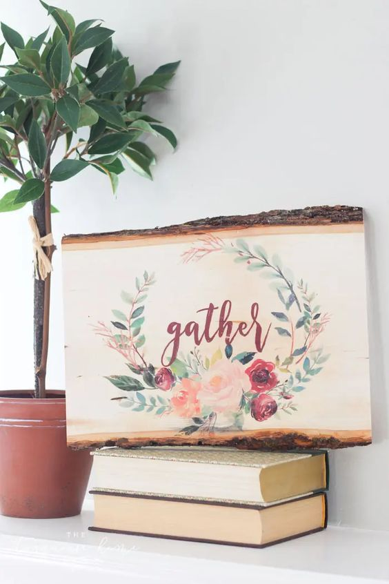 DIY Wedding Gifts - Wood Transfer Art by The Turquoise Home