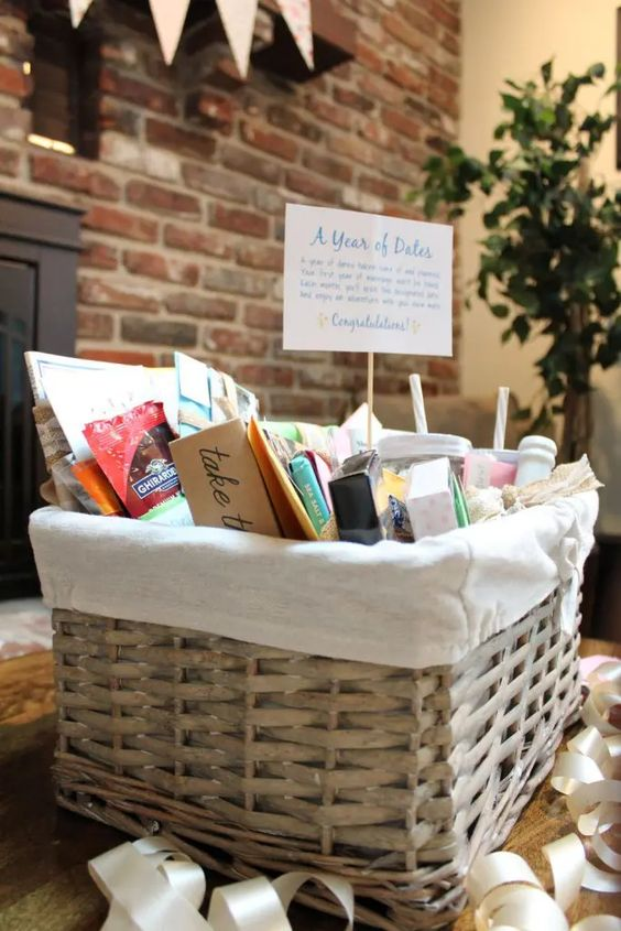 DIY Wedding Gifts - Year of Dates Gift Basket by Just Measuring Up