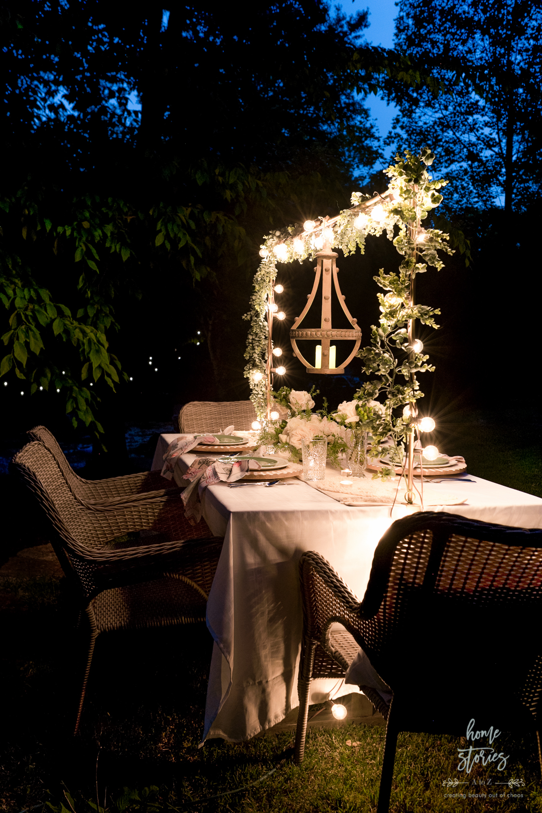 outdoor table twinkle lights