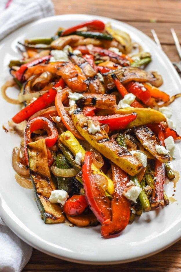 Grilled Vegetable Recipes - Easy Balsamic Grilled Vegetables by Neighborfood Blog