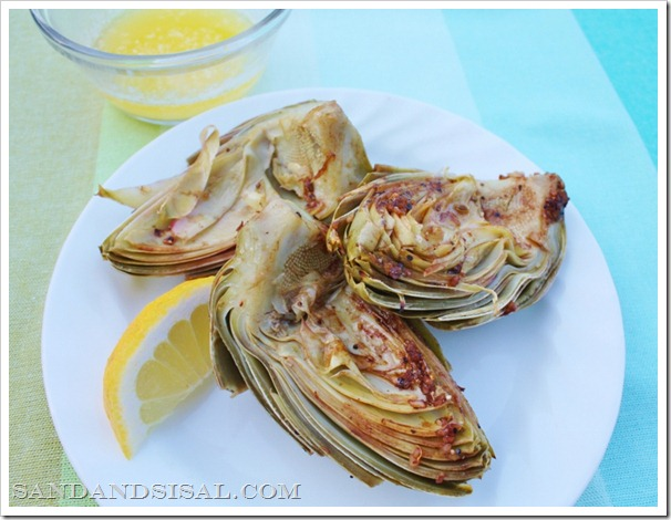 Grilled Vegetable Recipes - Grilled Artichokes by Sand & Sisal