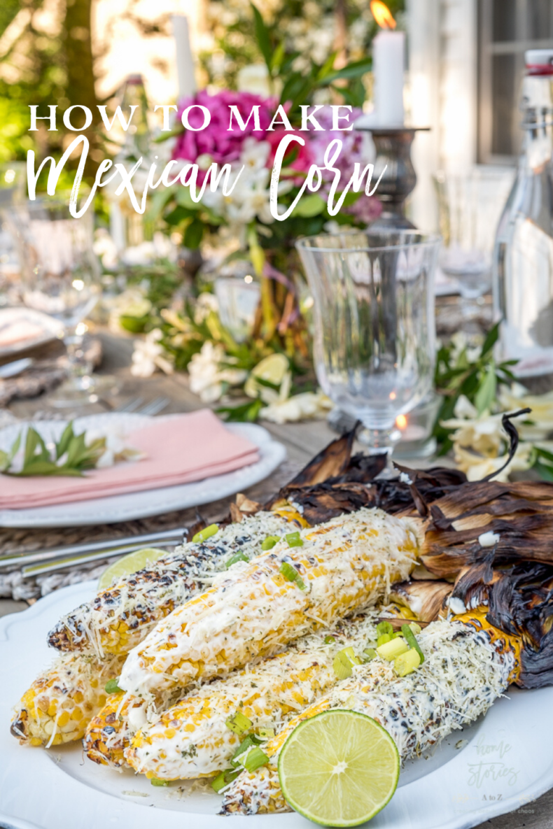 Grilled Vegetable Recipes - Grilled Mexican Street Corn by Home Stories A to Z