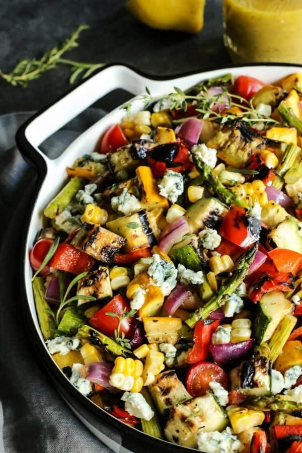 Grilled Vegetable Salad by A Farmgirl's Dabbles