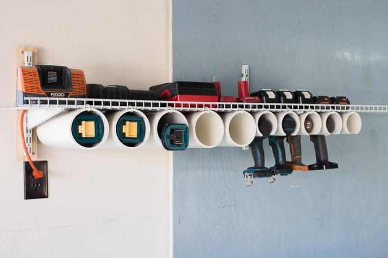 DIY Power Tool Organizer by Heathered Nest