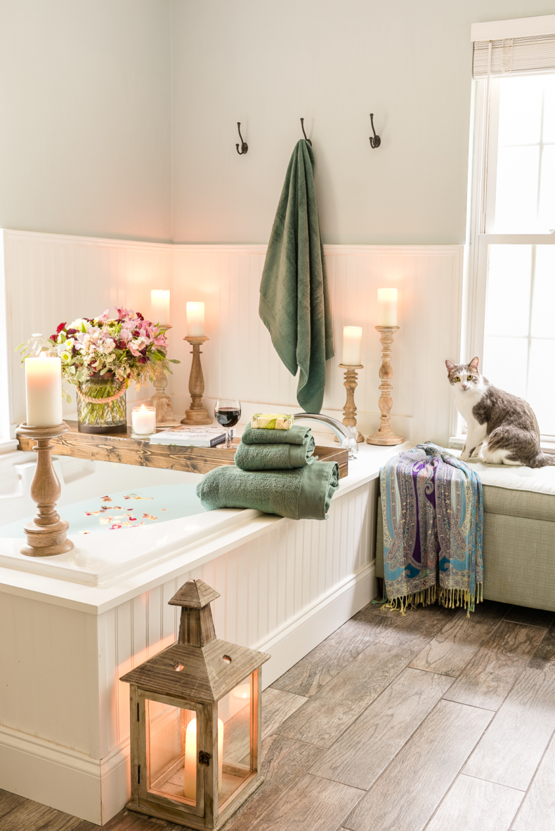 DIY Small Building Projects - Beadboard Bathroom by Home Stories A to Z