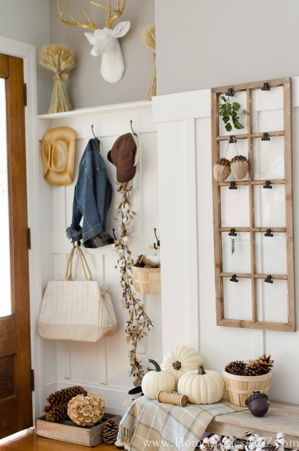 DIY Small Building Projects - Board and Batten Trim Mudroom by Home Stories A to Z