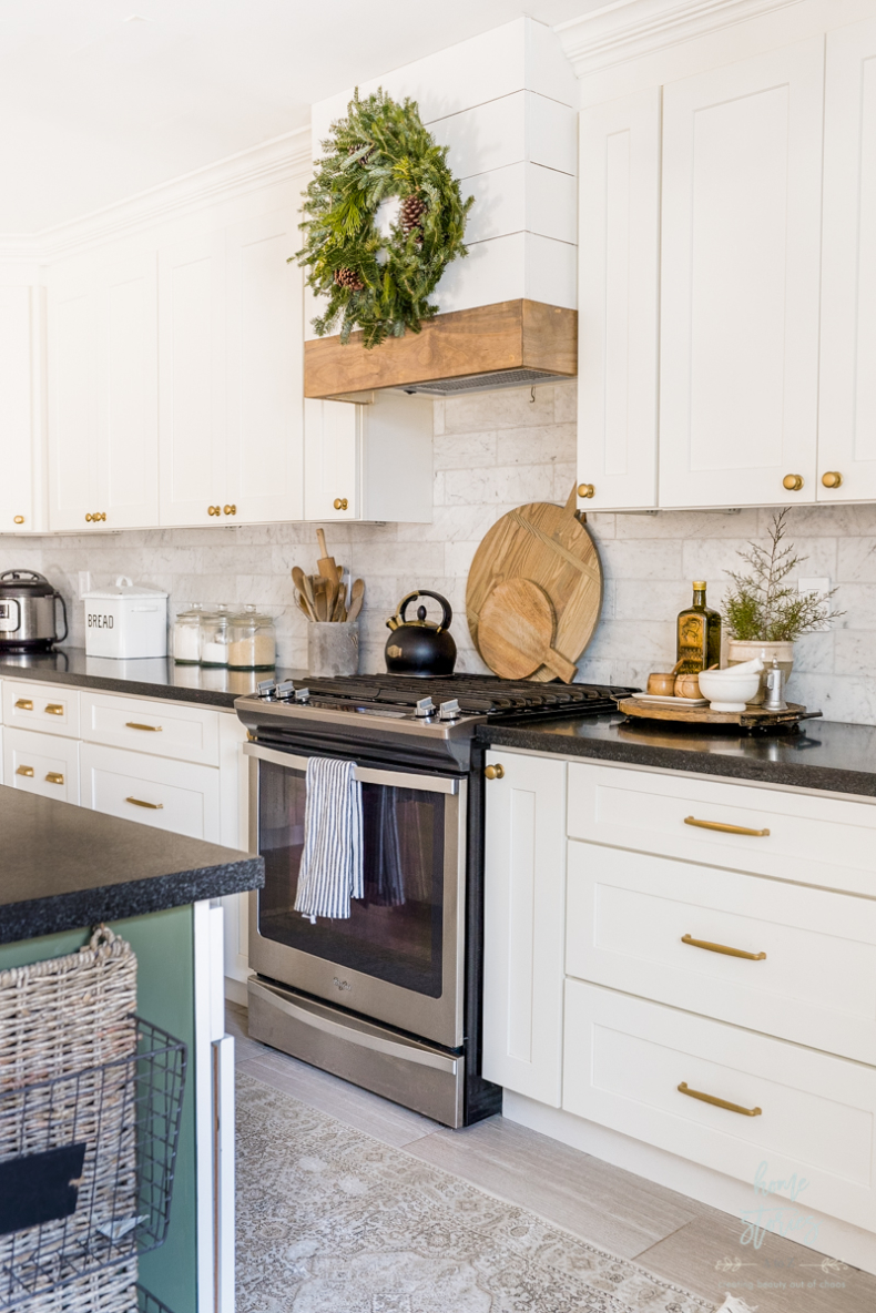 DIY Small Building Projects - DIY Shiplap Kitchen Hood by Home Stories A to Z